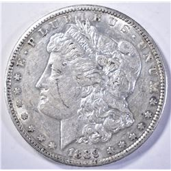 1889-S MORGAN DOLLAR, CH BU PL