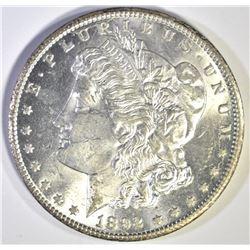 1892-CC MORGAN DOLLAR, CH BU STRONG STRIKE FLASHY!
