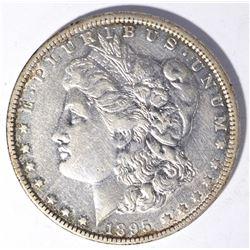 1895-O MORGAN DOLLAR, AU BETTER DATE