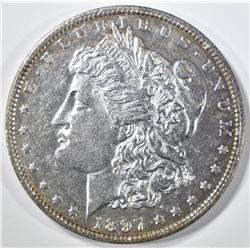 1897 MORGAN DOLLAR, CH BU PL