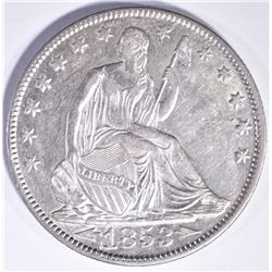 1853-O ARROWS AND RAYS SEATED