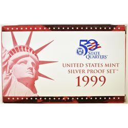 1999 U.S. SILVER PROOF SETS ORIG BOX/COA