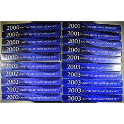 5-EACH 2000-2003 U.S. PROOF SETS