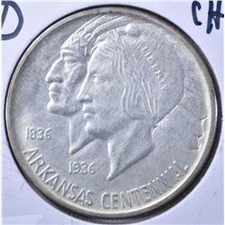 1937-D ARKANSAS CENTENNIAL CH BU