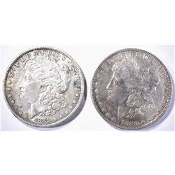 1880 & 89 AU MORGAN DOLLARS