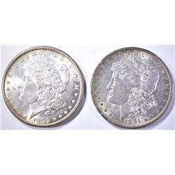 1891 & 99-O CH BU MORGAN DOLLARS