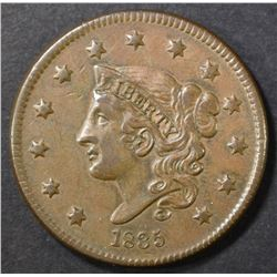 1835 LARGE CENT XF