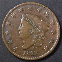 1828 LARGE CENT VF