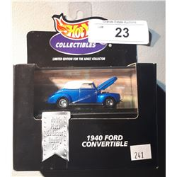 HOT WHEELS 1940 FORD CONVERTIBLE DIE CAST