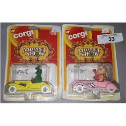 2 1979 CORGI MUPPET SHOW DIE CAST CARS