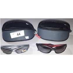 2 PAIRS NEW RYDERS SUNGLASSES WITH TRAVEL CASES