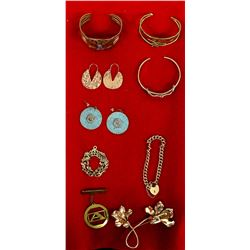 Collection of Estate Copper and Brass Jewelry