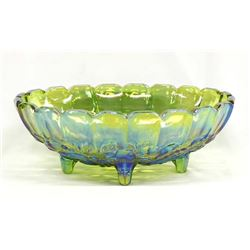 Vintage Indiana Green Carnival Glass