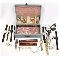 Collection of Watches, Cufflinks, and Tie Tacks