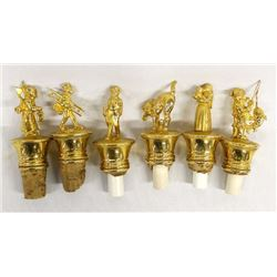 Goldtone Barware Bottle Stoppers