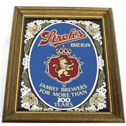 Stroh's Beer Bar Mirror Advertisement