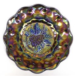 Antique Imperial Purple Carnival Glass Plate