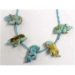Native American Turquoise Elephant Necklace