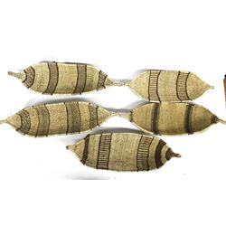 5 African Canoe Shaped Bread Baskets