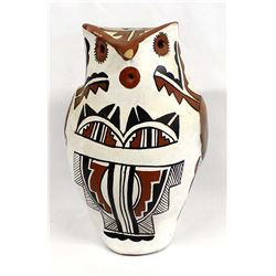 Large Native American Jemez Pottery Owl