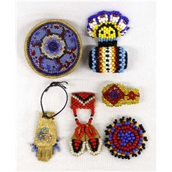 6 Pieces of Beaded Miniatures