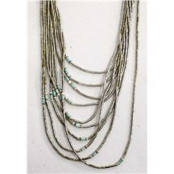 Navajo Liquid Silver Multi-Strand Necklace