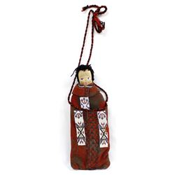 Vintage Native American Cloth Doll in Purse