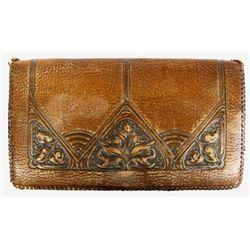 Vintage Meeker Hand Tooled Leather Purse