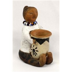 Vintage Cochiti Pottery Figurine by Margaret Quintana