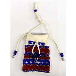 Native American Plains Indian Beaded Fetish Bag