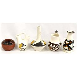 5 Pieces of Native American Pottery Miniatures