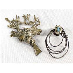 Vintage Sterling Silver Pins