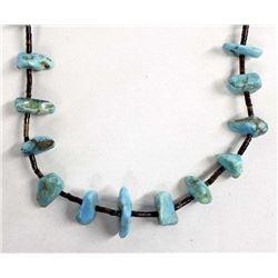 Santo Domingo Turquoise Nugget & Heishi Necklace