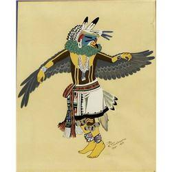 Native American Hopi Print by K. Tuvahoema