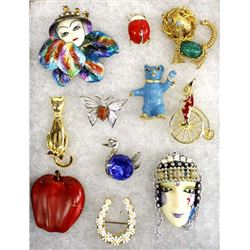 Collection of Estate Costume Jewelry Pins