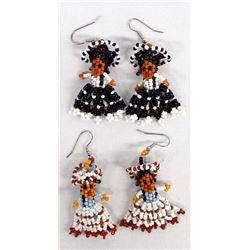 2 Pairs of Beaded Earrings