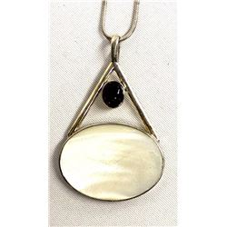 Mexican Sterling Silver Amethyst Pendant Necklace