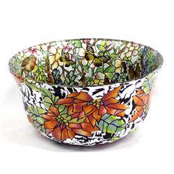 Original Decoupaged Glass Bowl by Savarese