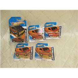 5 Hot Wheels Custom '77 Dodge Vans