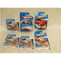 6 Hot Wheels Ford Mustang GTs