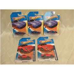 5 Hot Wheels Porsche 911