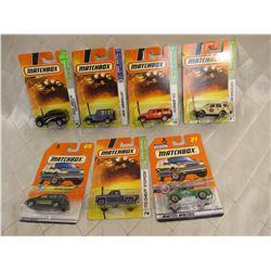 7 Matchbox Cars