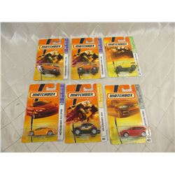 6 Matchbox Cars