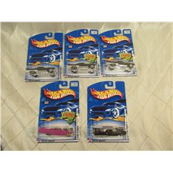 5 Hot Wheels Cadillacs