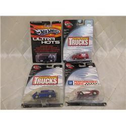 4 Hot Wheels