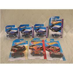 7 Hot Wheels Mustangs