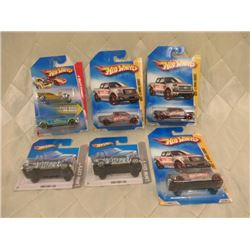 6 Hot Wheels Ford F-150s