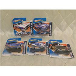 5 Hot Wheels Racing Short Cards