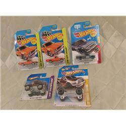 5 Hot Wheels Trucks