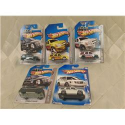 5 Hot Wheels SUVs